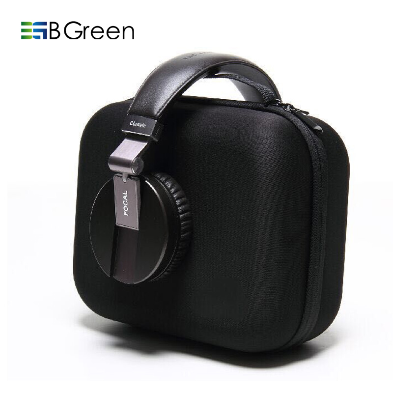 BGreen Headphone Zipper Box Earphone Earbuds Hard Case Bag USB Cable SD Card Trinket Storage Carrying Pouch EVA Shockproof
