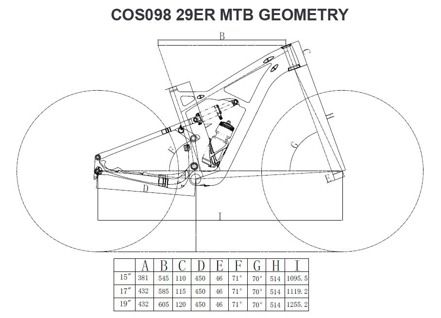 COS098 29er geometry