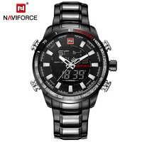 Montres de Sport militaires pour hommes de marque de luxe NAVIFORCE montre à Quartz numérique pour hommes montre-bracelet étanche en acier relogio masculino