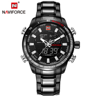 NAVIFORCE Luxury Brand Men Military Sport Watches Men S Quartz Digital Clock Full Steel Waterproof Wrist