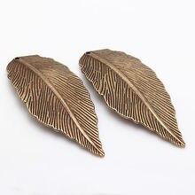 Antique Bronze Leaf Charms Vintage Metal Zinc Alloy DIY Large Leaf Charms Pendants Jewelry Making 10pcs/lot 29*68mm 8370(China (Mainland))