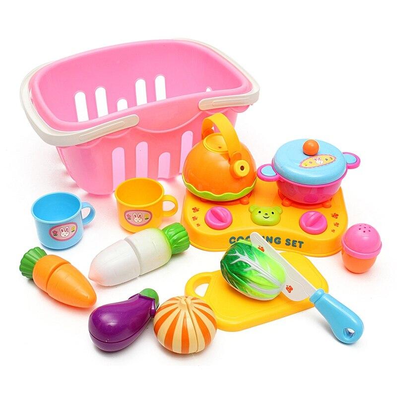Lustige 13 Teile/satz Kinder Rolle Spielen Kunststoff Obst Gemüse ...