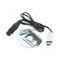 Satge Lighting Controller Dimmer DMX Interface Adapter To DMX512 Computer PC USB R07 Drop Ship