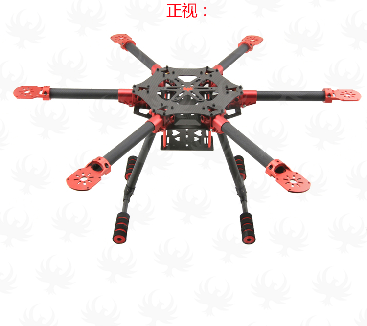 HF 600mm / 750mm Carbon Fiber Hexacopter Frame HF600 /HF750 Umbrella Folding Arm w/ Landing Gear Legs GF L1B for FPV Photography