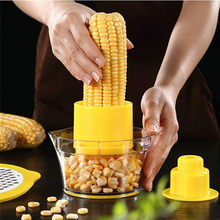2019 newest 4 in 1 Multifunction Cob Corn Stripper Kitchen Tools With Built-In Measuring Cup And Grater droshipping(China)