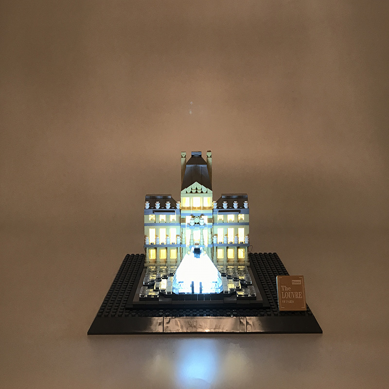 Led Light Set For Lego Building City Street 21024 Architecture Series Louvre Toys Blocks Creator City Street Lighting Set city architecture mini street scene view reims cathedral police headquarters library fire departmen building blocks sets toys