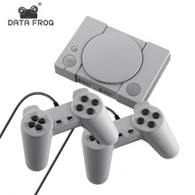 Data Frog 620 Retro Video Game Console Double Gamepad 8 Bit Support AV Out Put TV Video Game With 2 PCS Controller 2019 Newest