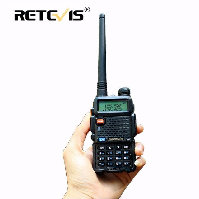 Rt-5r retevis walkie talkie rádio vhf uhf 136-174 & 400-520 mhz dual band transceptor portátil portátil presunto rádio comunicador rt5r