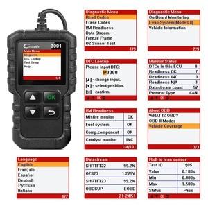 Image 3 - LAUNCH Full OBD2 Code Reader Scanner Creader 3001 OBDII/EOBD Car Diagnostic Tool In Russian CR3001 pk AL319 AL519 OM123