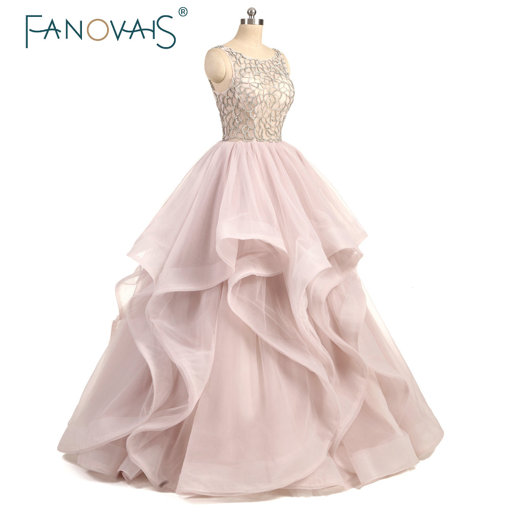 Real Photo Tulle Beading Wedding Dress Ruffles Sexy Beaded Cheap Prices  Floor Length abito da sposa rosa 2019 robe de maree-in Wedding Dresses from  Weddings ... 56bfefcf9d6d