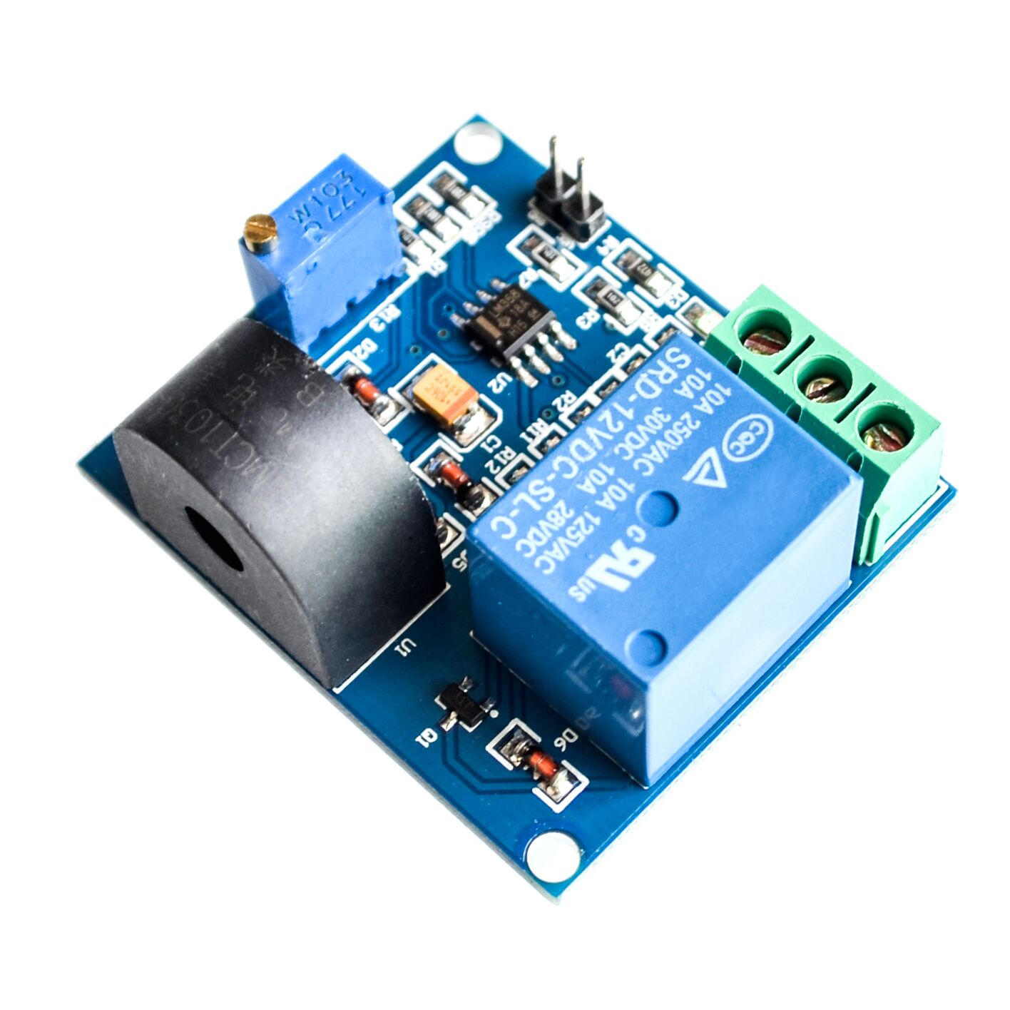 5a Overcurrent Protection Sensor Module Ac Current 12v Relay Circuit