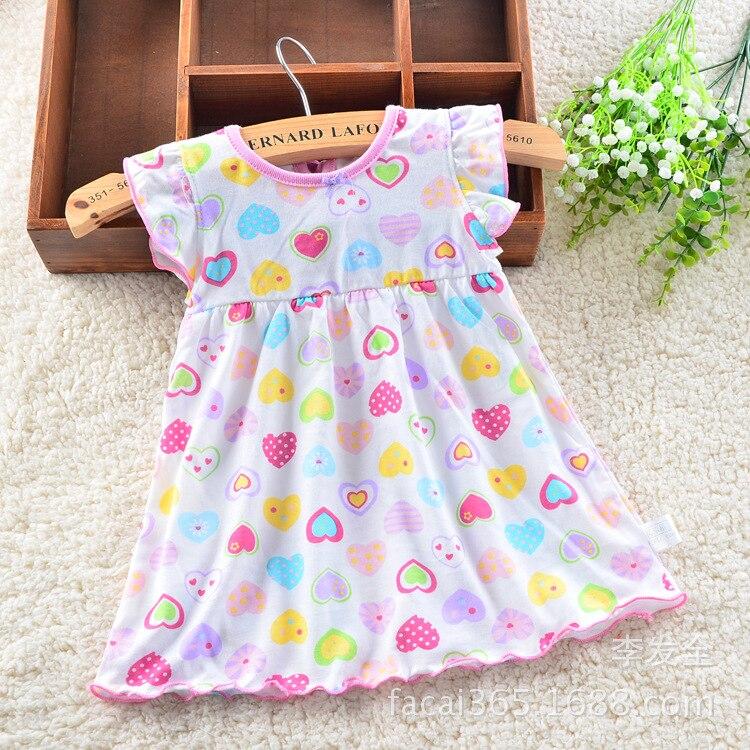 b6e745069bf7d 2016 Summer Baby Girl Dress 0-1 Years Old Children's Clothes Cotton  Short-sleeveless Newborn Kids Clothing 678