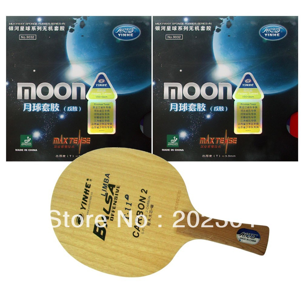 Pro Table Tennis PingPong Combo racket Galaxy YINHE T 11 with 2Pieces Moon Factory Tuned Long