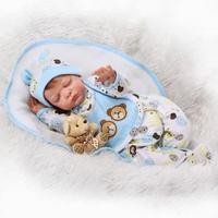 Simulation Handmade Sleeping Reburn Baby Doll Funny Doll With Soft Cloth Body Creative Gift For Kids
