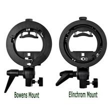 Godox S Type Speedlite Bracket Bowens / Elinchrom S Mount Holder Flash Adapter for Photo Studio Softbox Reflector Beauty Dish