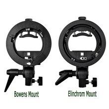 Godox s 형 스피드 라이트 브래킷 bowens/elinchrom s 마운트 홀더 사진 스튜디오 용 플래시 어댑터 softbox reflector beauty dish