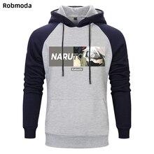 цена на 2019 trend Men's clothing hoodie Japanese anime Naruto Sasuke Kakashi Uchiha  print Raglan hooded sweatshirt hoodies coat plain