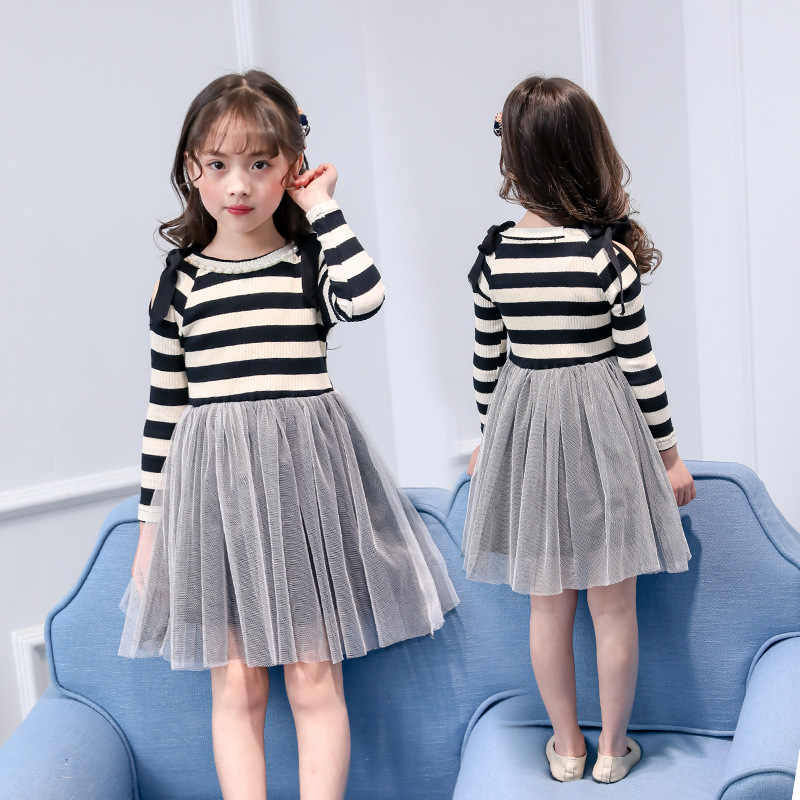 3357bb04dc0 ... children dress 2019 new spring winter 4 - 14 yrs teenage girls long  sleeve dress princess ...
