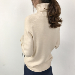 OHRYIYIE Women Turtleneck Winter Sweater 2019 New Khaki Beige Long Sleeve Knitted Pullovers Female Jumper Tricot Tops Pull Femme 6