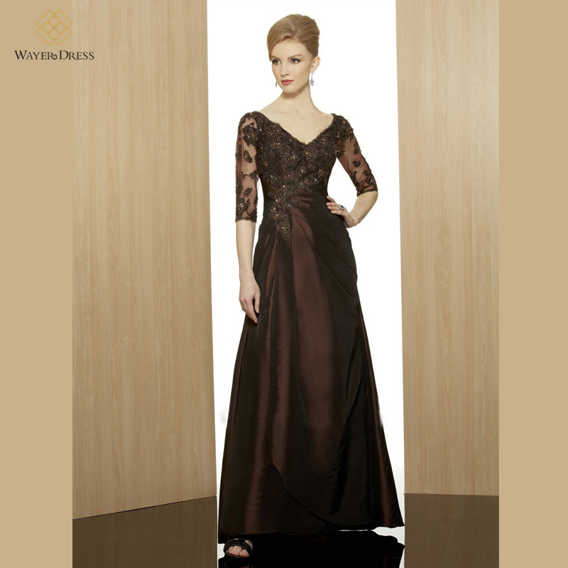 Designer Lace Appliqued Beaded Long Evening Dresses Plus