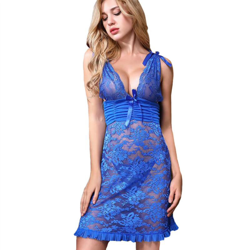 Women lingerie sexy hot erotic deep v mini lace dress porno underwear erotic lenceria set mujer sexy nightwear babydoll costumes