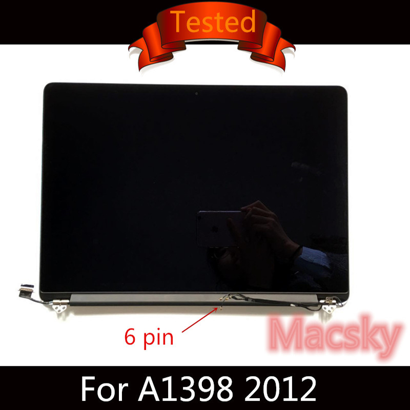 Tested Original A1398 LCD Display Assembly for Macbook Pro Retina 15 Complete 2012 year