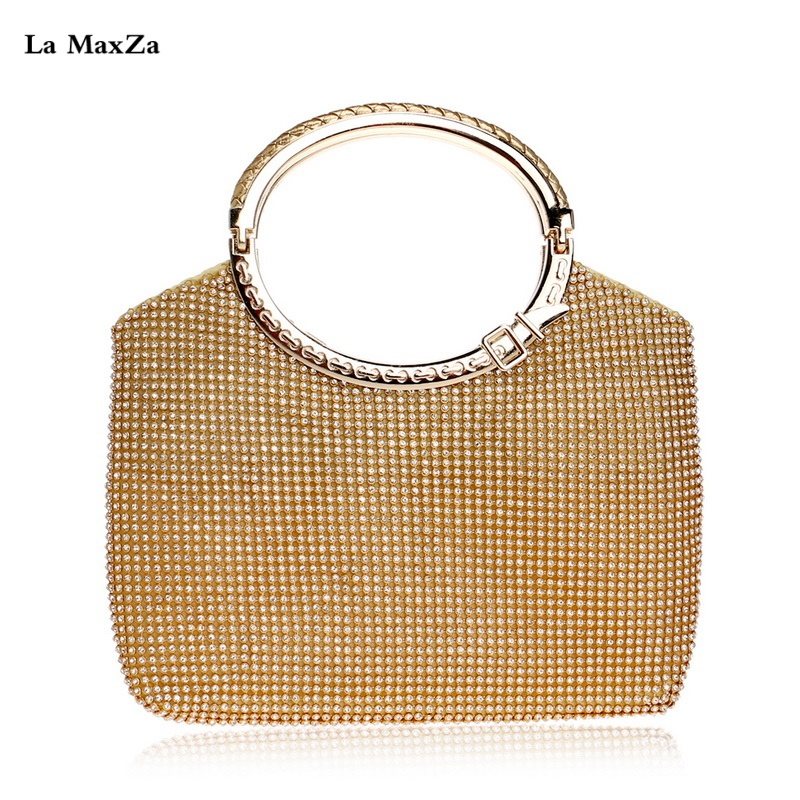 La MaxZa Manufacture Fashionable Large With Handle Evening Clutch Bag Fashion Ladies New Bags One-shoulder Evening Bag one enchanted evening