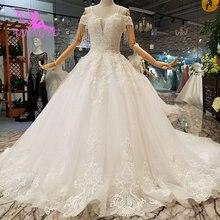 Aijingyu 빈티지 신부 드레스 가운 boho 세련 된 최신 미국 최신 스타일 인도 사용자 정의 웨딩 드레스 신부 드레스