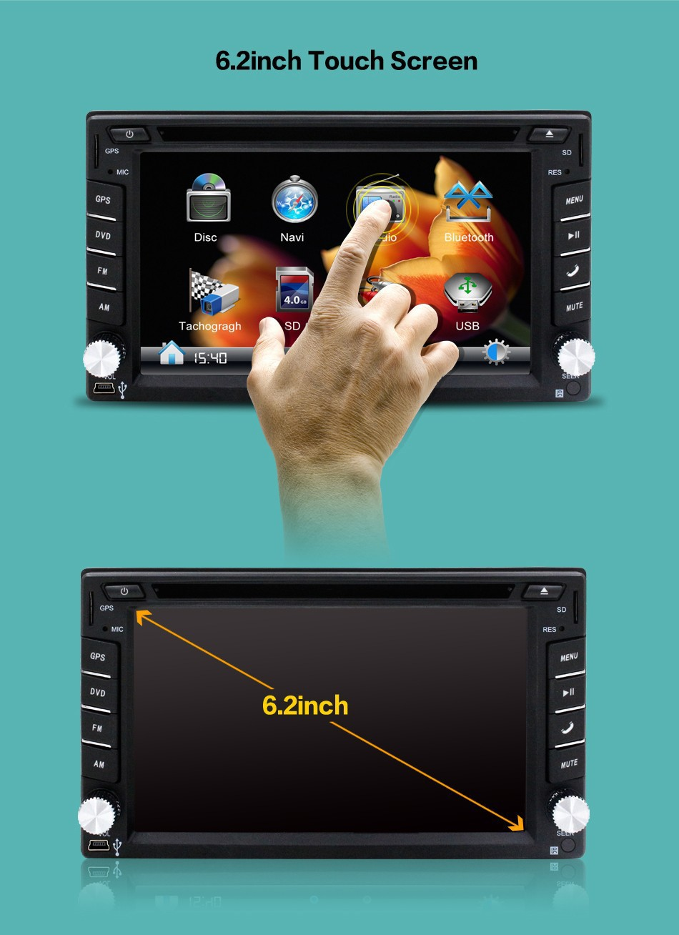 USB/SD juke Radio Auto 9