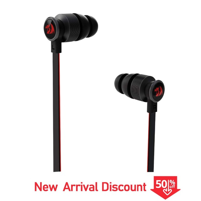 Redragon Pro E200 Gaming Earphone In-Ear Earbud Heavy Bass Mircophone For Phone Computer Headset With Mic For XBOX PS4 Iphone8