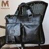MONOLETH Genuine Leather Briefcase Men Crossbody Shoulder Handbag Men Messenger Bags Male Briefcase Men S Travel