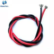 Электрический провод 8 AWG 8, 36, 7 мм2, кабель 3 метра [1,5 м, черный и 1,5 м, красный] Провода из луженой меди, быстрая пайка