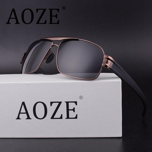 d8689ee4e42 NEW AOZE Luxury Brand Designer Vintage Polaroid Lens for Men Male  Sunglasses Polarized Eyewear Accessories Inner Coating