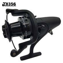 K8356 Fishing Spinning Reel 13BB 5.1:1 Carp Fishing Reel Casting Metal Spool Long Shot Left/Right Handle Saltwater Fishing Reel