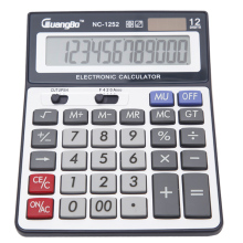 Guangbo Solar Or Battery Calculators Portable Office Desktop Stationery Big Display Calculadora High Quality NC-1252