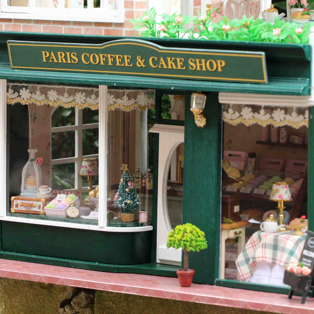 Meubles Poupée DIY Maison Wodden Miniatura Maisons De Poupées Kit - Poupées et accessoires - Photo 4