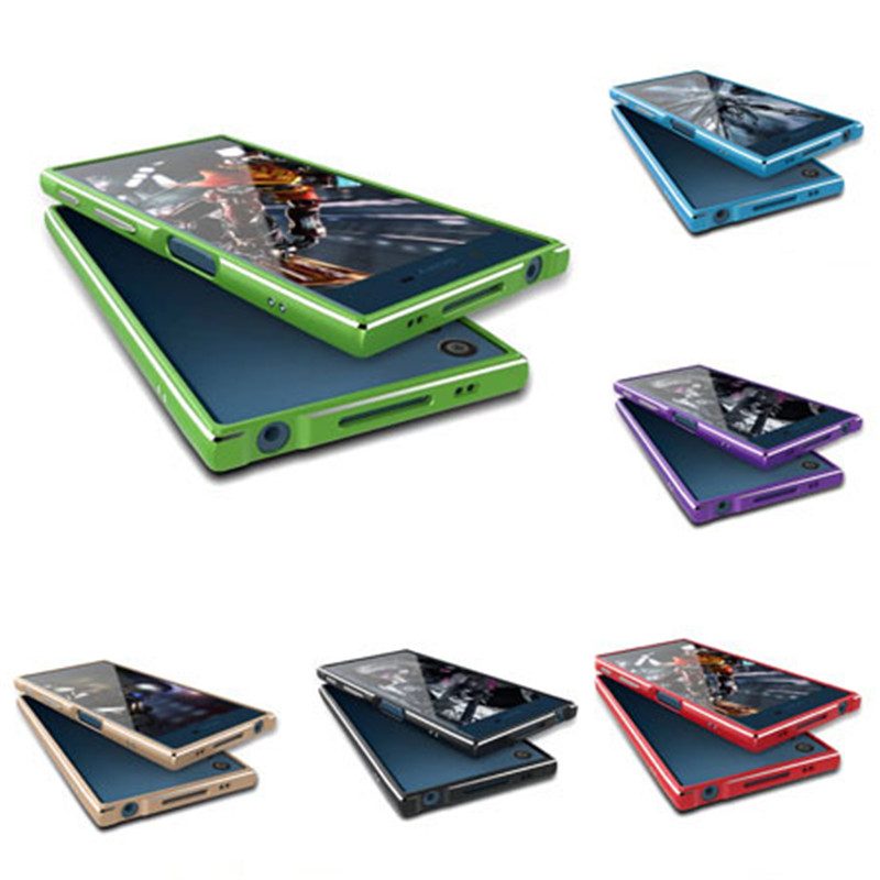 For Sony Xperia XZ / X Compact Phone Cases Luxury Ultra Thin Aluminum Metal Bumper Case Frame Cover For Sony XZ