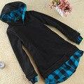 Otoño Nueva Llegada Tops Más El Tamaño M-4XL 5XL Mujer Sudaderas 2016 Dama de La Moda Otoño Escudo Sudaderas Con Capucha de Dos Piezas de Algodón chaqueta