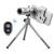 2017 hd teleobjetivo zoom óptico de 12x telescopio con trípode móvil clip bluetooth control remoto cámara de lentes para el iphone sony