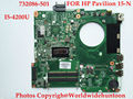 Madre Original del ordenador portátil Para HP Pavilion 15-N 732086-501 DA0U83MB6E0 I5-4200U DDR3 Totalmente probado
