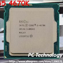 Processeur d'ordinateur de bureau Quad-core Original Intel core i5 4670 K SR14A 3.40 GHz 6 M 84 W 22nm LGA1150 i5-4670K(China)