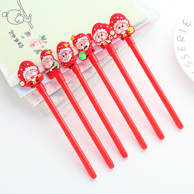 Christmas Series Creative Neutral Pen Black 0.5MM Black Gel Pen Student Writing Tools Gifts Office School Supplies
