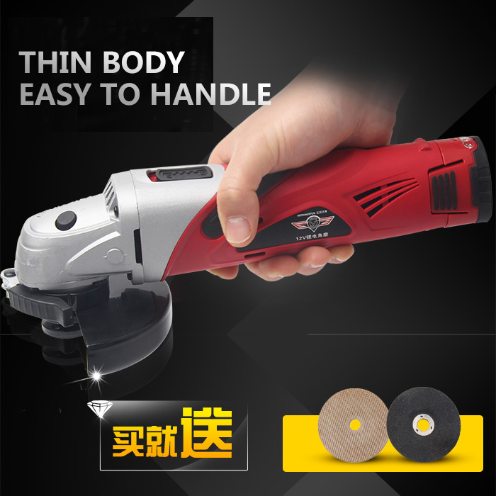 HEPHAESTUS 12V Angle Grinder Grinding Machine Metal Polisher Angular Power Tool  Metal and Wood cutting,sanding polishing sanding machine for woodworking belt sander metal grinding polisher 350w copper motor knife grinder chamfering machine