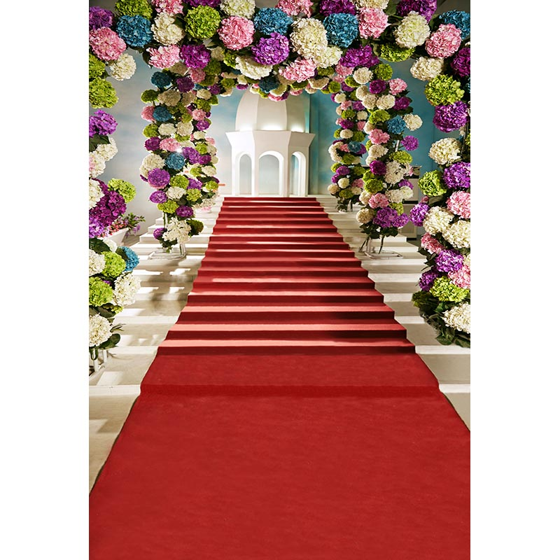 Customize vinyl cloth print flowers arch red blanket photo studio backgrounds for wedding portrait photography backdrops CM-7145 customize vinyl cloth print european wedding church hall photo studio backgrounds for photography backdrops prop