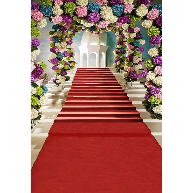 Customize vinyl cloth print flowers arch red blanket photo studio backgrounds for wedding portrait photography backdrops CM-7145 dettol восстановление с экстрактами граната и малины антибакт жидкое мыло для рук 250 мл