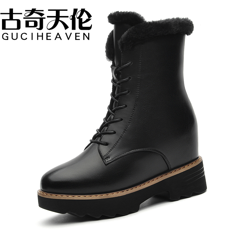Guciheaven 8588 Buckle Decoration Boots,Round Toe Fashion Winter/Autumn Women Shoes,Soft Leather Fur Footwear ,Soft Rubber Sole free shipping ce831 60001 laserjet pro m1132 1215 1212formatter board 125a pressure roller printer parts on sale