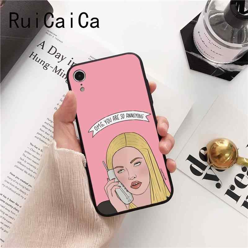 Ruicaica Burn Book Mean Girls Bacio Hot Fashion Fun Dinamica rosa Cassa Del Telefono per il iphone 6 S 6 più di 7 7 più 8 8 Più di X Xs MAX 5 5 S XR
