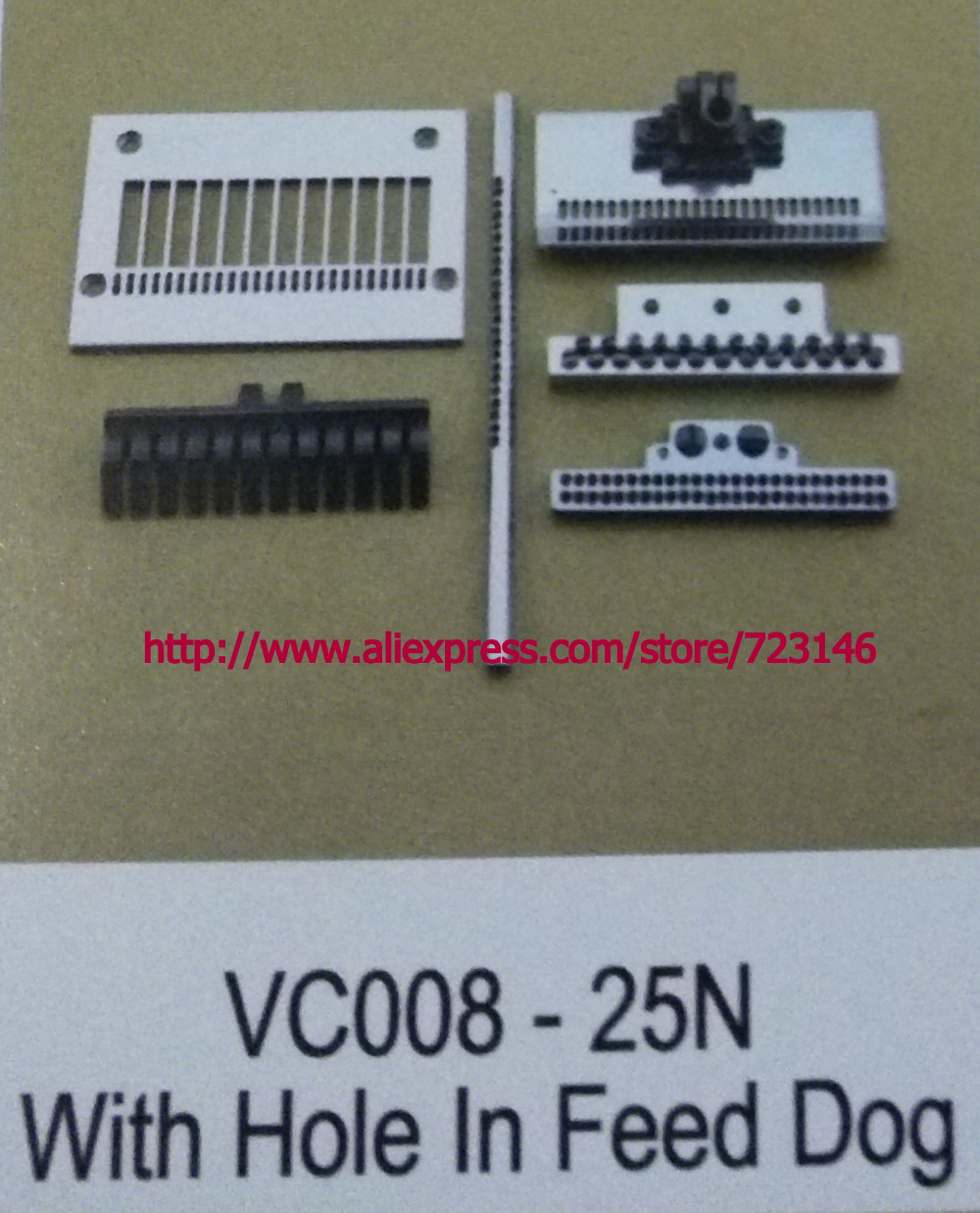 NEEDLE GAUGE SET vc008-25n with hole in feed dog NDUSTRIAL SEWING MACHINE PLATE FOR CANSAI JUKI SINGER