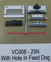NEEDLE GAUGE SET vc008 25n with hole in feed dog NDUSTRIAL SEWING MACHINE PLATE FOR CANSAI JUKI SINGER