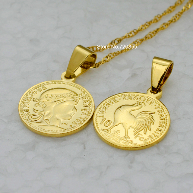 Coins necklace pendant for women 18k real gold plated coin coins necklace pendant for women 18k real gold plated coin jewelry small chain 18 aloadofball